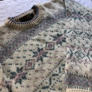 vintage Eddie Bauer pastel Nordic sweater